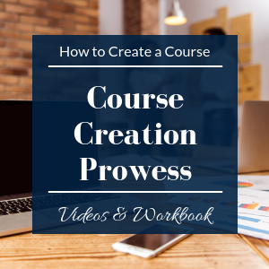 how to create a course creation prowess cover